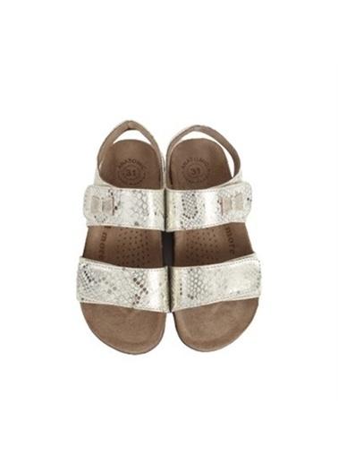 Kids A More Marla Çift Cırtlı Deri Kız Çocuk Sandalet  Altın